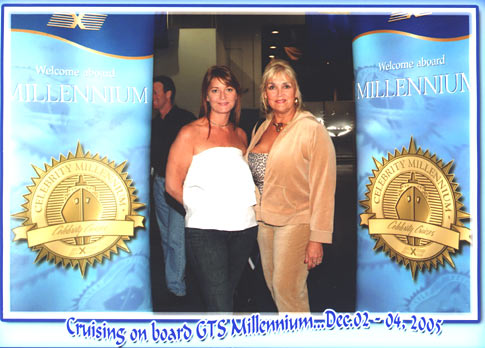 Pamela Deapalma and ME on board the Millenium